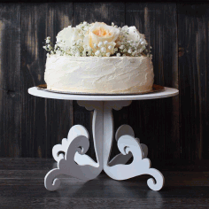 Decorative Wedding Cake Stand For Laser Cut Free CDR Vectors Art