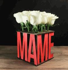 Laser Cut Decor Flower Flask Stand Free CDR Vectors Art