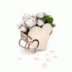 Flower Basket Material 4 Mm For Laser Cut Free DXF File