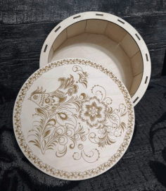Laser Cutting And Engraving Decorative Box For Laser Cut Free CDR Vectors Art