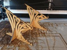 Kraken Laptop Stand 5mm Version For Laser Cut Free DXF File