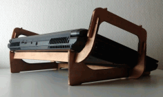 Laptop Stand Wood And Plexiglass Drawing For Laser Cut Free DXF File