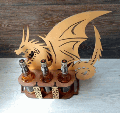 Stand For Beer In The Shape Of A Dragon For Laser Cutting Free CDR Vectors Art