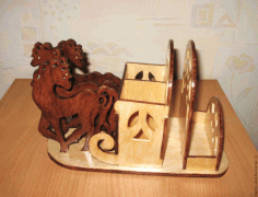 Stand Russian Trio For Laser Cut Free CDR Vectors Art