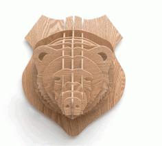 Bear Head 3d Animal Head Wall Trophy Free CDR Vectors Art