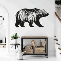 Bear Wall Decor For Laser Cut Free CDR Vectors Art
