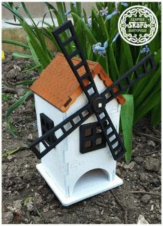 Windmill Tea House Lasercut For Laser Cut Free CDR Vectors Art