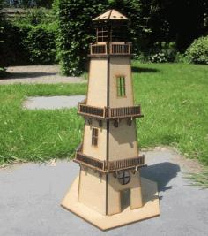 Lighthouse 3d Model Kit Toy 4mm Mdf Free DXF File