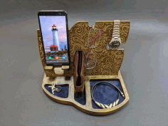 Phone Stand Organizer 6mm Layout For Laser Cut Free CDR Vectors Art