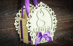 Jewelry For women. March 8. Gift Box For Laser Cut Free CDR Vectors Art