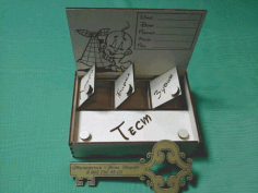 Beby Box For Laser Cut Free DXF File