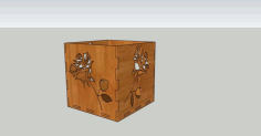 Rose Box For March 8 For Laser Cut Free CDR Vectors Art