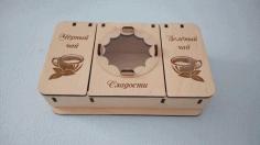 Tea Box For Laser Cut Free CDR Vectors Art