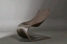 Chair Wave Design Art For Laser Cut Free CDR Vectors Art