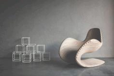 Chair Wave Design For Laser Cut Free CDR Vectors Art