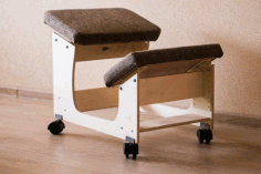 Knee Chair Design For Laser Cut Free CDR Vectors Art