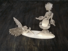 Fairies Napkin Holder For Laser Cut Free DXF File