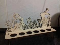 Easter Bunnies Egg Holder Template For Laser Cut Free CDR Vectors Art