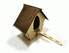 Bird House 3mm Plywood For Laser Cut Free DXF File