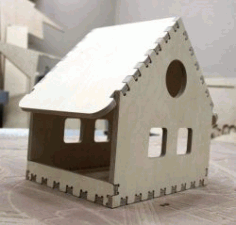 Small House Assembly Model For Laser Cut Free CDR Vectors Art