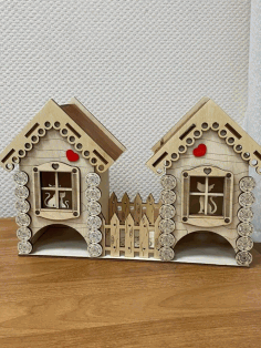 Wooden Cat House Cutting For Laser Cut Free CDR Vectors Art