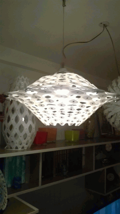 Nlo Lampshade 1 Mm Acril Layout For Laser Cut Free DXF File