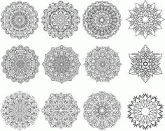 Floral Mandala Ornament For Laser Cut Free CDR Vectors Art