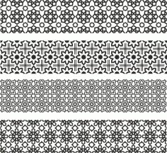 Floral Ornament Patterns For Laser Cut Free CDR Vectors Art