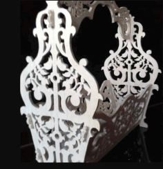 Basket With Handle Planter Flower Box For Laser Cut Free CDR Vectors Art
