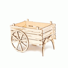 Carriage Cart Flower Basket For Laser Cut Free CDR Vectors Art