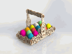 Easter Bucket For Laser Cutting Free CDR Vectors Art