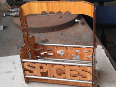 Spice Caddy With Handle For Laser Cutting Free CDR Vectors Art