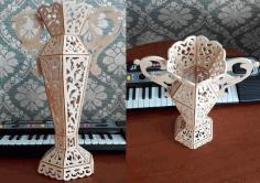Vase Laser Cut Free CDR Vectors Art