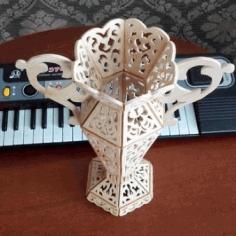 Vase No 5 For Laser Cut Free CDR Vectors Art