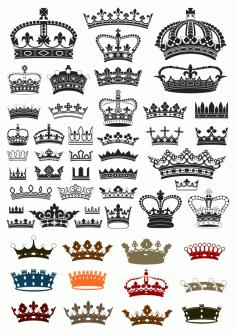 Crowns Set Free CDR Vectors Art