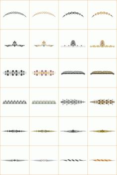 Design Ornamet Corners And Borders Set For Laser Cut Free CDR Vectors Art