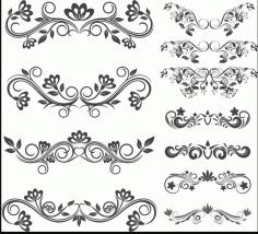 Floral Designs For Laser Cut Free CDR Vectors Art