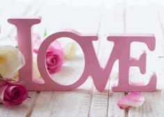 Laser Cut valentine's Day Concept Love Decor Letters Free CDR Vectors Art