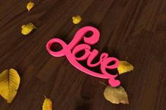 Love Heart Decor For Laser Cut Free CDR Vectors Art