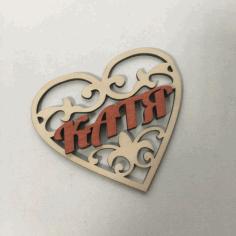 Valentine Wood Decor For Laser Cut Free CDR Vectors Art