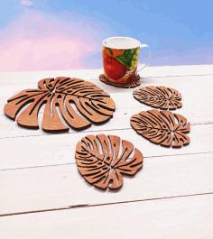 Wooden Decorative Tea Coaster For Laser Cut Free CDR Vectors Art