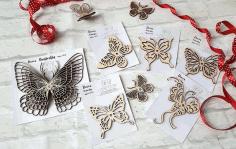 Decor Butterfly Cnc For Laser Cut Free CDR Vectors Art
