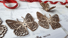 Decor Butterfly For Laser Cutting Free CDR Vectors Art