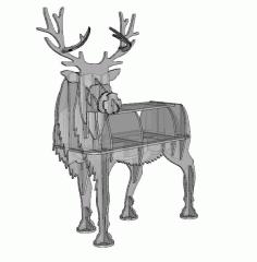Deer 2d Animals Design Plan 10mm For Laser Cut Free CDR Vectors Art