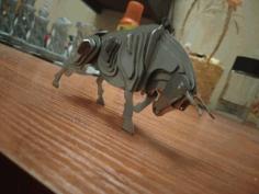 2021 Sheet Metal Souvenir Bull For Laser Cut Free DXF File