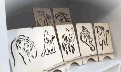 Animal Engraving Art For Laser Cutting Free DXF File
