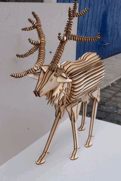 Deer Puzzle For Laser Cutting Free DXF File
