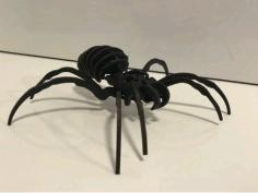 Spider Mockup Layout For Laser Cut Free DXF File