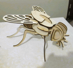 Fly 3d Puzzle For Laser Cut Free CDR Vectors Art