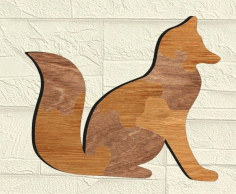 Fox Puzzle Drawing For Laser Cut Free CDR Vectors Art